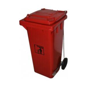 Lixeira Plástica Vermelha c/ Pedal 120 Litros Ref.9358VR – SuperPro Bettanin